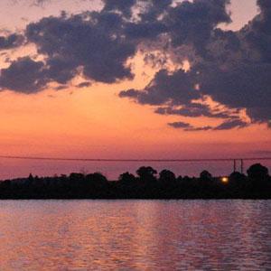 Sun Sets over Unicor Dam
