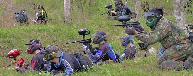 The exciting outdoor paintball activity in Secunda.