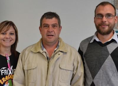 FLTR: Elsie Potgieter, Steve de Kock (owner) and Deon Badenhorst