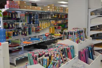 The well-stocked shelves