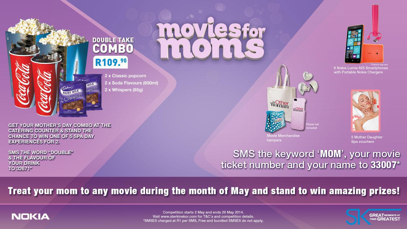 Spoil your mom this May with great movies, treats & prizes