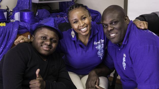 Khumo Moyane Simphiwe Mkhize are Casual Day ambassadors with Simon Manda