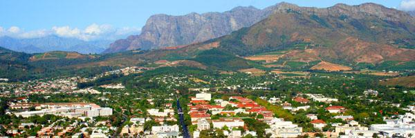 View of Stellebosch from Papagaai Berg