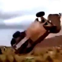 Driver survives spectacular Dakar Rally crash ( + video)