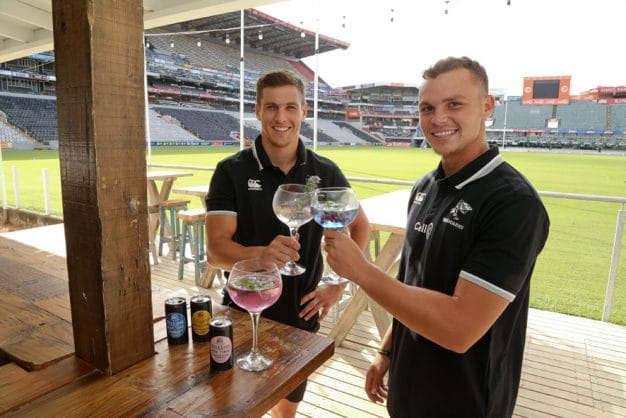 Louis Schreuder and Curwin Bosch toasting at Jonsson Kings Park