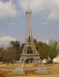 Mini Eiffel Tower in Parys, South Africa
