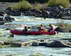 River rafting on the Vaal