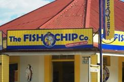 The Fish O Chip Co Sign