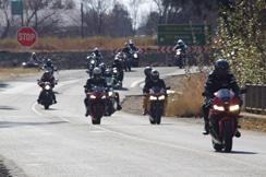 Bikers riding for a cause
