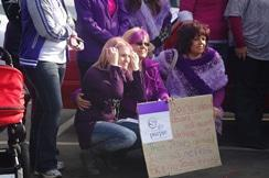 Go Purple event supporting woman who went through sexual abuse