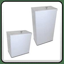 White Epoxy Coated Sanitary Bins