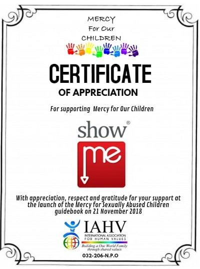 Showme Vaal Appreciation